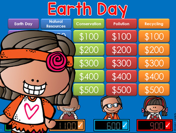 Earth Day Jeopardy Style Game Show