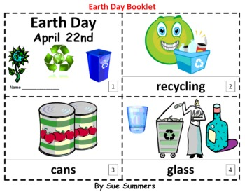 Earth Day 2 Emergent Reader Booklets - ENGLISH