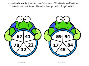 Earth Day 2 Digit By 2 Digit Multiplication Spinner Game