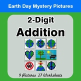 Earth Day: 2-digit Addition - Color-By-Number Math Mystery Pictures