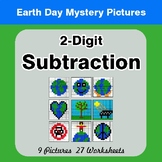 Earth Day: 2-digit Subtraction - Color-By-Number Mystery Pictures