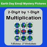 Earth Day: 2-digit by 1-digit Multiplication - Color-By-Nu