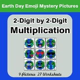 Earth Day: 2-digit by 2-digit Multiplication - Color-By-Nu