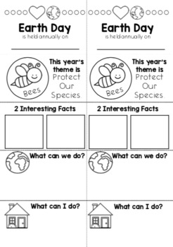 """Earth Day 2019 Simple Research Activity for """"Protect Our Species"""""""