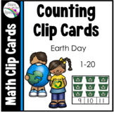 Earth Day Activities - Earth Day Counting Clip Cards
