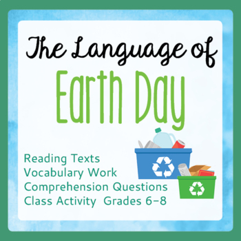 Earth Day Informational Text, Activities