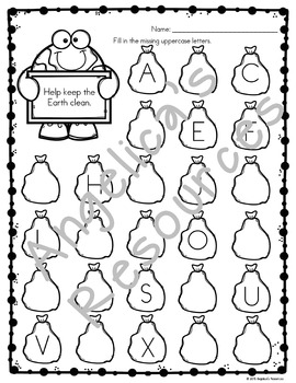 Earth Day Activities : Literacy and Math Printables - Just Print & Go!