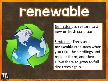 Earth Day Vocabulary PowerPoint
