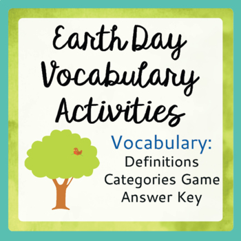 Earth Day Vocabulary Activities