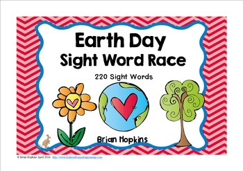 Earth Day Sight Word Race