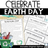 Earth Day Activities Reading Comprehension Passages Writin