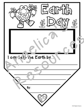 Earth Day Activities : Earth Day Summary Pennants - Writing Craftivity