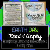 Earth Day Reading Interactive Notebook Activity