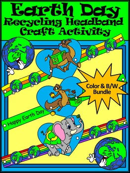 Earth Day Craft Activities: Earth Day Recycling Headband C