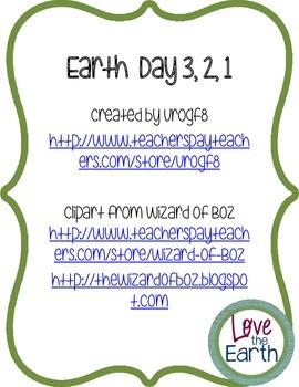Earth Day 3, 2, 1