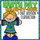 Earth Day 3 Digit Addition & Subtraction Color-By-Number