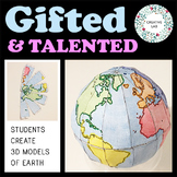 Mapping Craft Activity - 3D Globe - Gifted & Talented