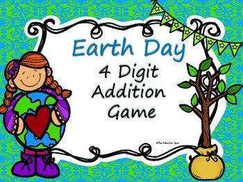 Earth Day 4 Digit Addition Game