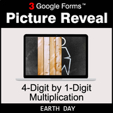 Earth Day: 4-Digit by 1-Digit Multiplication - Google Form