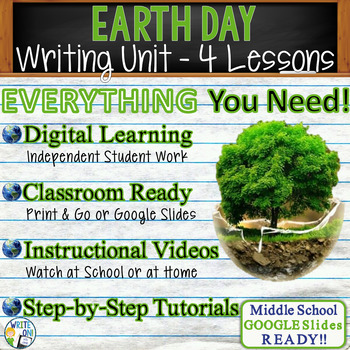 Earth Day Writing BUNDLE! - Argumentative, Persuasive, Expository, Narrative