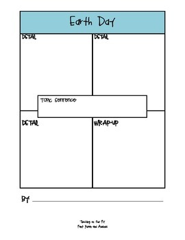 Earth Day 4-Square Writing Packet
