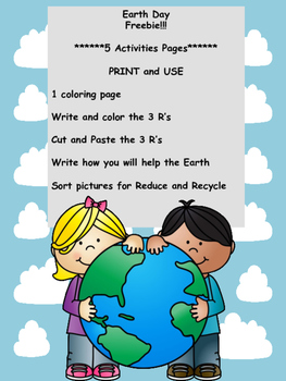 Earth Day! 5 Activities ****Freebie***