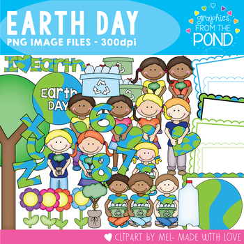 Earth Day  A Mega Pack of Borders Clipart And Alphabet