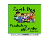 Earth Day ABC Order Activity