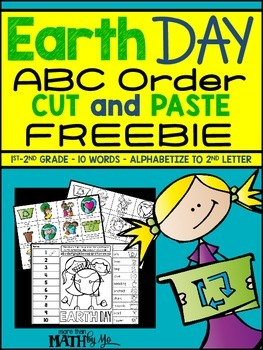 Earth Day ABC Order Cut and Paste FREEBIE: Level 2