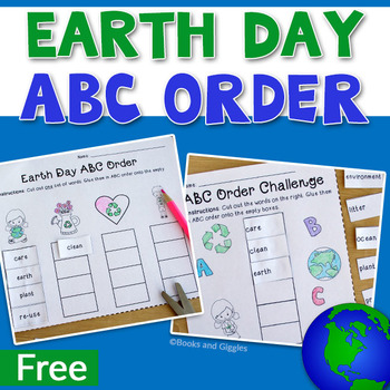 Earth Day ABC Order (FREE!)