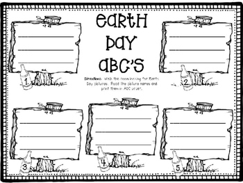 Earth Day ABC's