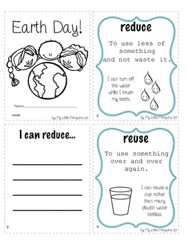 Earth Day Accordion booklet-April Reduce, Reuse and Recycle