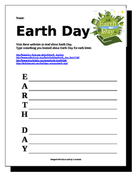 Earth Day Acrostic