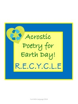 Earth Day Acrostic Poem!