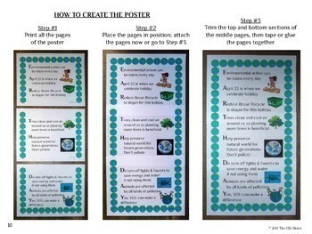 Earth Day Poster Freebie in Acrostic Poem Format