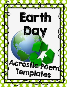 Earth Day Acrostic Poem Templates