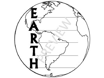 Earth Day Acrostic Poem Writing Craft Templates - 7 formats K 1 2