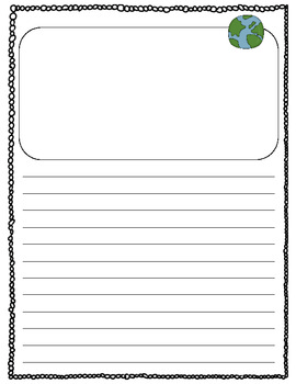 Earth Day Acrostic Poem and Writing Page Freebie