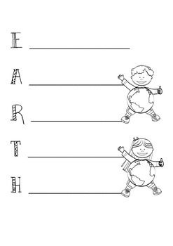 Earth Day Acrostic Templates