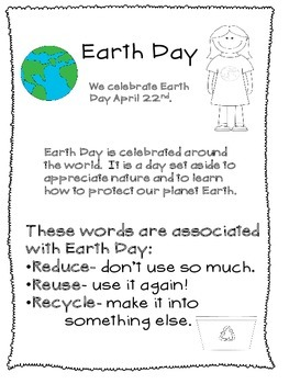 Earth Day Activities: Recycle: Polution