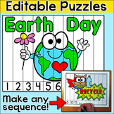 Earth Day Activities Sequencing Puzzles - Editable for any