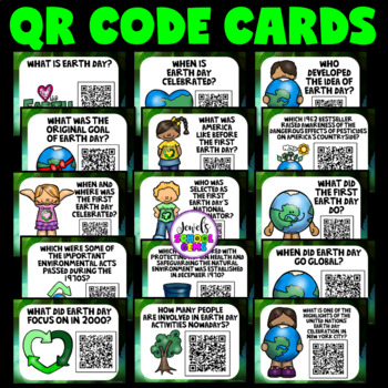 Earth Day Activities (Earth Day QR Codes Scavenger Hunt)