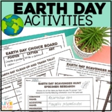Earth Day Activities - Scavenger Hunt, Research, Clean Up and Project Choice