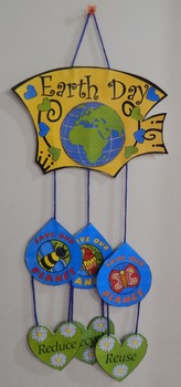 Earth Day Activities: Earth Day Mobile Spring Craft Activity Packet