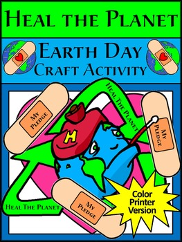 Earth Day Activities: Earth Day Heal the Planet Spring Craft Activity