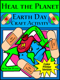 Earth Day Activities: Earth Day Heal the Planet Spring Craft Activity - Color