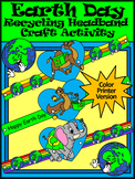 Earth Day Art Activities: Earth Day Recycling Headbands Craft Activity - Color