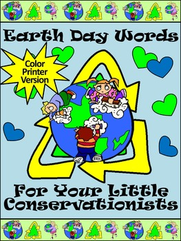 Earth Day Spelling Activities: Earth Day Words Flash-card Set