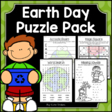 Earth Day Activities - Math & Literacy Puzzles | Early Finishers