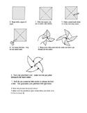 Earth Day Activities - 4th Grade - Make a Pinwheel Directions